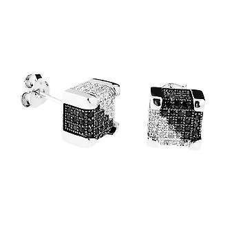 925 Silver MICRO PAVE earrings - IMPERIAL 9 mm split