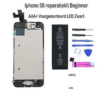 Iphone 5S LCD reparatie en upgrade kit - voor de beginner - Zwart