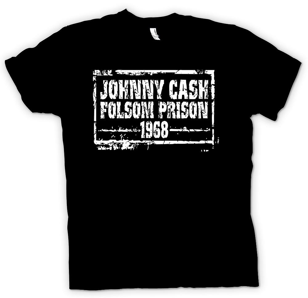 Mens T-shirt - Johnny Cash-Folsom Gefängnis 68 – Country-Legende
