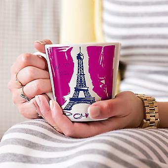 Paryż Nowa Biała herbata kawa Latte ceramiczny kubek 17 oz   Wellcoda