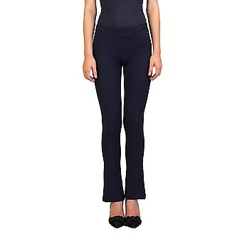 Prada kvinders Nylon Polyester blanding Stretch Fit Pants Navy