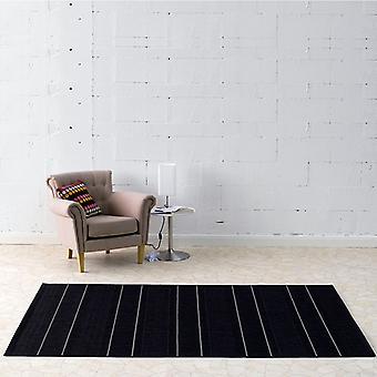 In & outdoor flat fabric carpet Fürth black | 102030