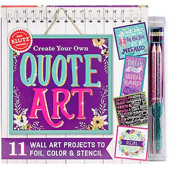 Create Your Own Quote Art Book Kit