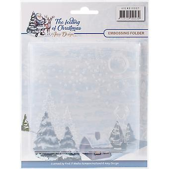 Find It Amy Design The Feeling Of Christmas Embossing Folder