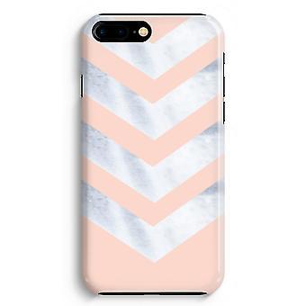 iPhone 8 Plus hela Print fallet (glättat) - marmor pilar