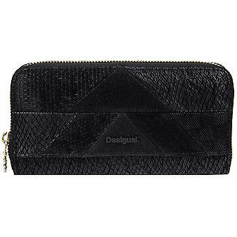 Desigual zipper purse MoNE zip around snake patch 17WAYPEF