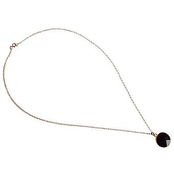 Classic Onyx necklace Black Onyx necklace gold plated gemstone necklace ladies