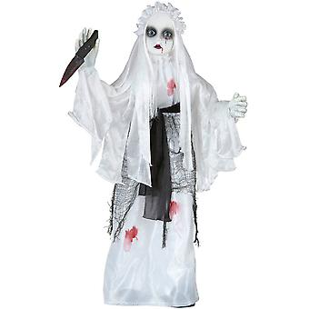 Halloween and horror   Sound sensor activated slasher bride 75 cm