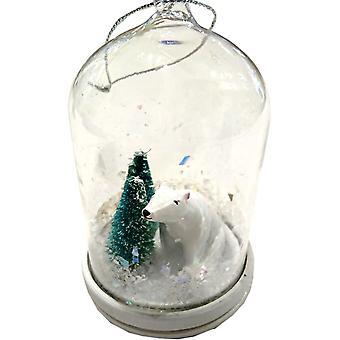 LilyPond artesanías y regalos de Navidad con forma de cúpula decoración Oso Polar y árboles