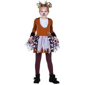 Fawn dress Tutu costume children carnival woodland creatures animal costume girl