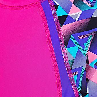 Zoggs flickor Kortärmad UPF 50 + Sun topp rosa