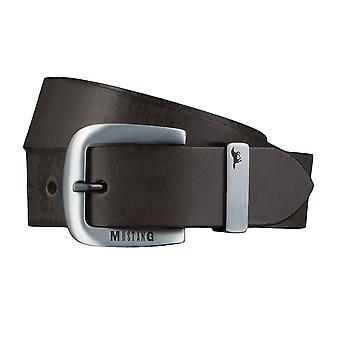 MUSTANG belts men's belts leather jeans belt Brown 4340