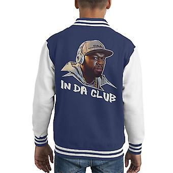50 cent In Da Club nummer titel Kid's Varsity Jacket