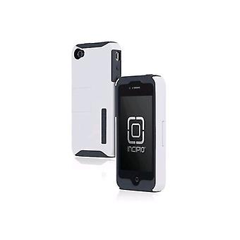 Incipio SILICRYLIC fallet med Kickstand till Apple iPhone 4/4s-grå/vit