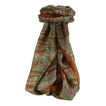 Amoreira cachecol longo tradicional Godavary rosa por Pashmina & seda
