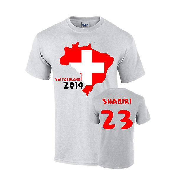Sveits 2014 land flagg T-shirt (shaqiri 23)