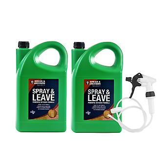Spear & Jackson 2 x 5L Spray and Leave Ready to Use + Long Hose Trigger