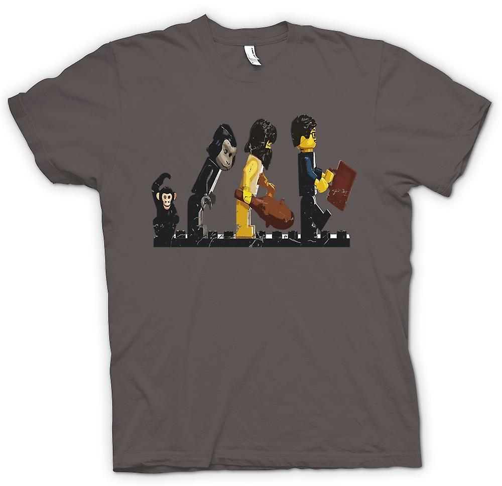 Heren T-shirt-Lego Mans Evolution - grappig