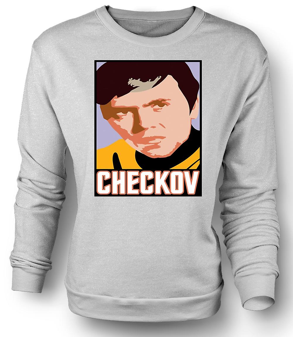 Mens Sweatshirt Star Trek - Pop Art - Checkov