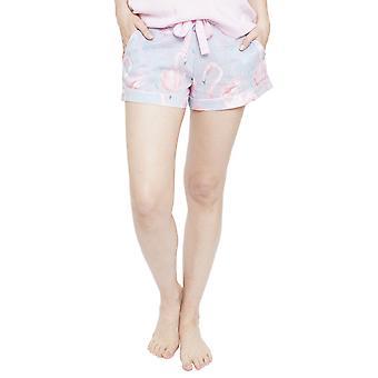 Cyberjammies 4113 Women's Zara Grey Flamingo Print Pyjama Short