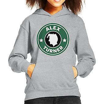 Alex Turner Starbucks Logo Kid's Hooded Sweatshirt