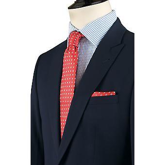 Dobell Mens giacca Navy Regular Fit viaggi/prestazioni tacca bavero