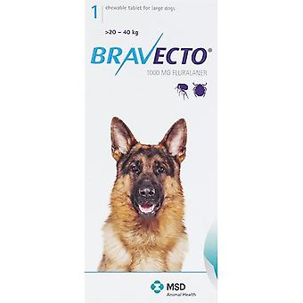 Bravecto Blue For Dogs 44-88 lbs. (20-40 kg.)