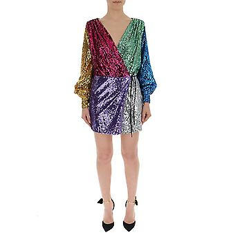 Attico Multicolor Sequins Dress