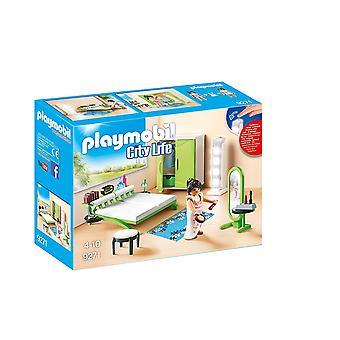 Playmobil 9271 cidade vida quarto com luzes de trabalho