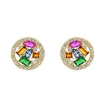 Ah! Jewellery Crystal from Swarovski Multi Colour Cocktail Earrings