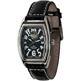 Zeno-watch mens watch tonneau retro open heart 8085U-h1