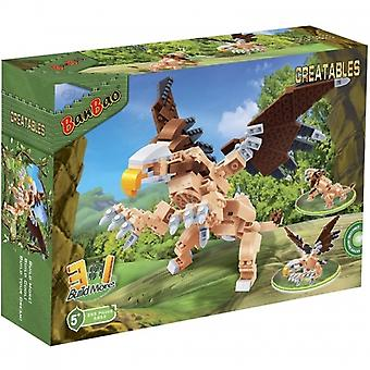 BanBao Interlocking Blocks 3-in-1 Creatables Building Set, Ancient Bird (295 Pieces)