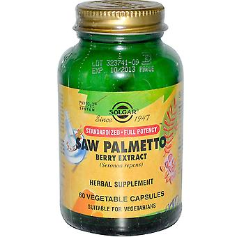 Solgar Standardised - Full Potency Saw Palmetto Berry Extract Vegetable Capsules, 60