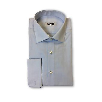 Ingram double cuff shirt in pale blue