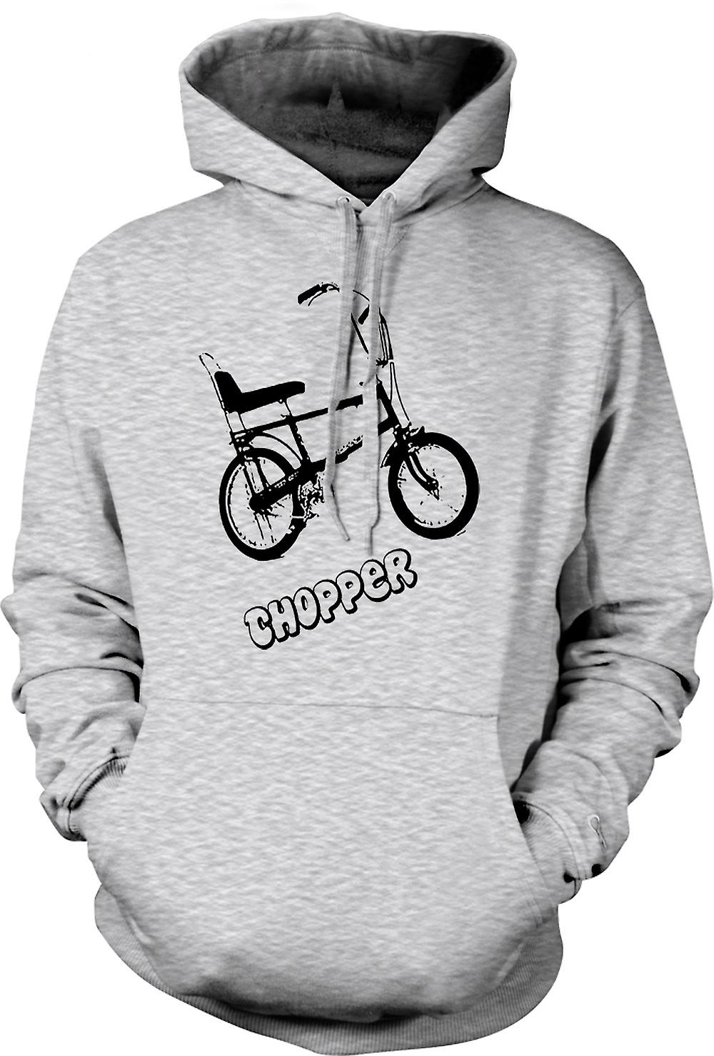 Mens Hoodie - Chopper - Old Skool - Retro bici