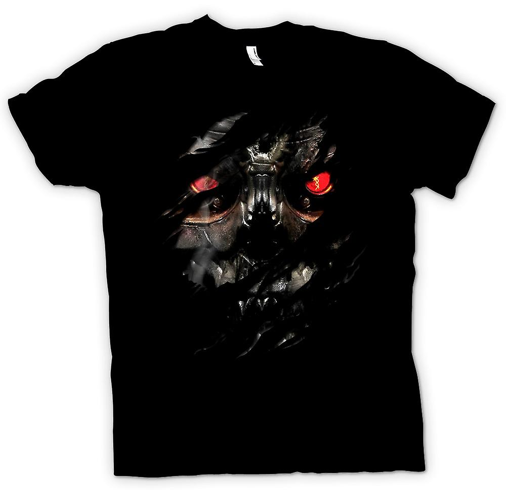 Mens T-shirt - Terminator Ripped Effect
