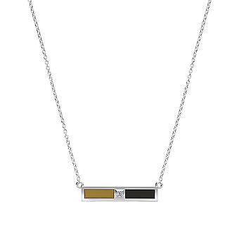 Wake Forest University-Diamond bar halskæde i lys brun og sort