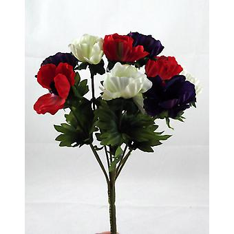 Artificial Silk Anemone Posy