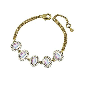 Eternal Collection Majesty Aurora Borealis Crystal Gold Tone Bracelet