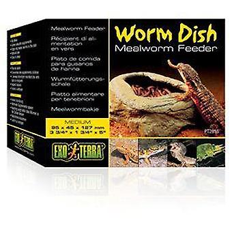 Exo Terra EXO TERRA WORM DISH FOR INSECTS (Reptiles , Bowls, Feeders & Water Dispensers)