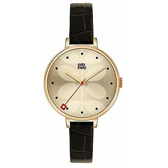 Orla Kiely Ivy Black Eather Strap OK2032 Watch