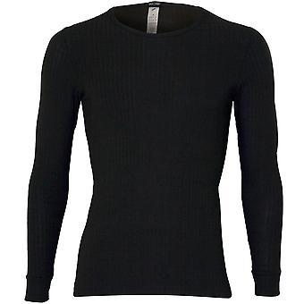 Hom Heat cashmere ribbstickad Långärmad T-shirt, khaki