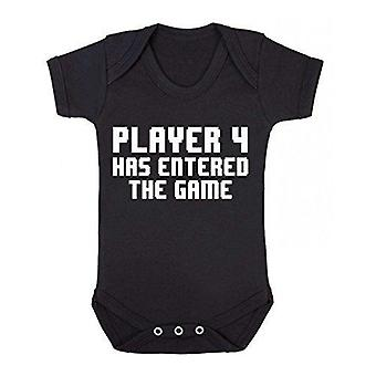 Player 4 has entered the game short sleeve babygrow
