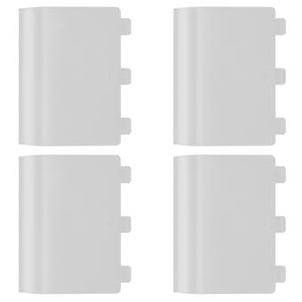 Replacement battery back cover holder for white microsoft xbox one controllers & 4 pack white