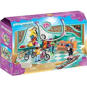 Playmobil 9402 City Life Bike & Skate Shop with Ramp