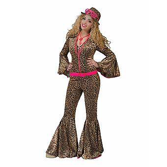 Jumpsuit Panther Wild Cats Costume Women's 70s Jumpsuit Leopard Women's Costume