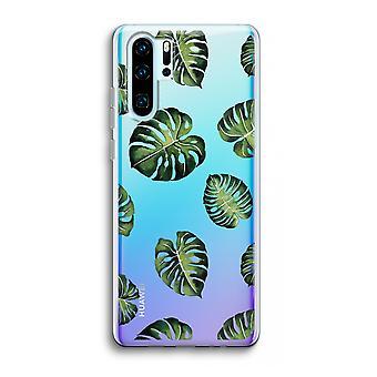 Huawei p30 pro caso transparente (Soft)-folhas tropicais