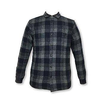 Edwin Labour over-shirt jacket in navy/grey check