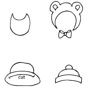 Julie Nutting Mixed Media Cling Rubber Stamps-Baby Hat & Bib Set 2.5