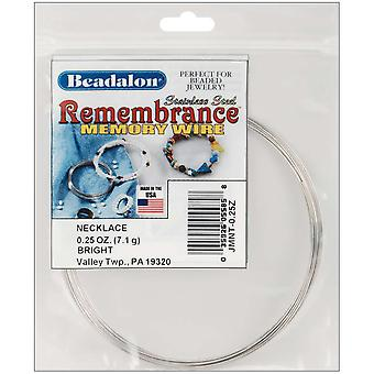 Remembrance Memory Wire ketting .62Mm.25 Oz Pkg Bright ca 9 lussen Jmnt 0
